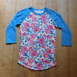 Lularoe Randy Shirt Roses